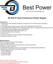 BP-27 Amp Aircraft Power Supply