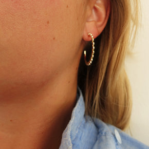 Scalloped Hoops