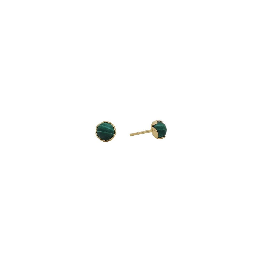 medium malachite buttons