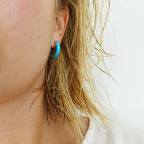 Turquoise Paloma Hoops