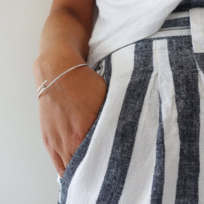 silver everyday bangle
