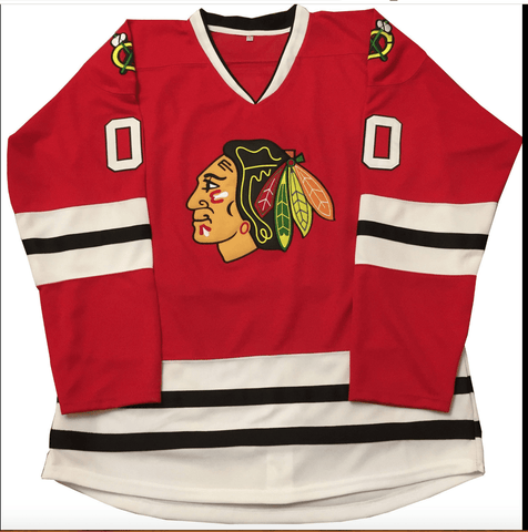 Clark Griswold Christmas Vacation Blackhawks Hockey Jersey Red 2e85c1f20
