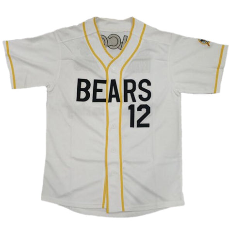 Bad News Bears Jersey Chico's Bail Bonds Baseball White Embroidered