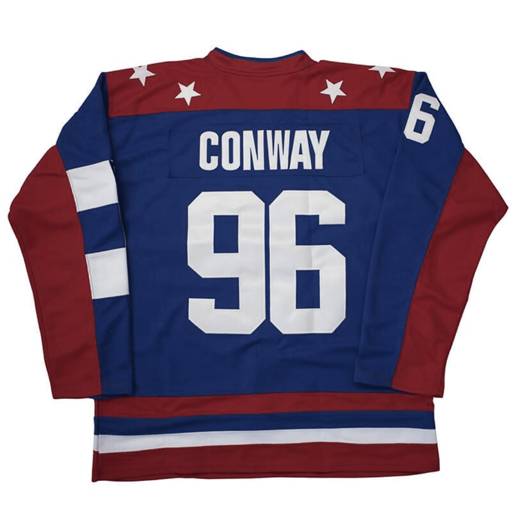 15554ceeb Charlie Conway Team USA D2 Mighty Ducks 2 Hockey Jersey Red Blue ...