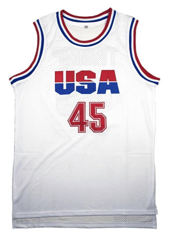 65f88e347 Donald Trump  45 USA Basketball Jersey White