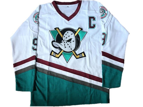Mighty Ducks Movie Ice Hockey Jersey White c971a1e3c