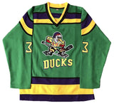 Youth Mighty Ducks Movie Ice Hockey Jersey Green
