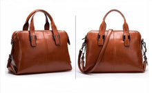 Leather Tote Bag With Zippers - Backpacks Oasis