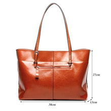 Leather Tote Shoulder Handbag
