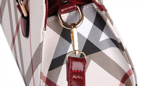 Striped Designer Shoulder Handbag - Backpacks Oasis