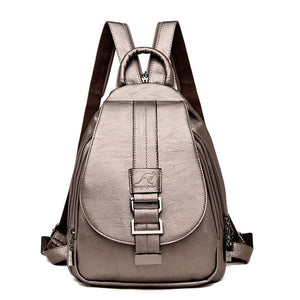 Leather School Backpack for Teenage Girls - Backpacks Oasis