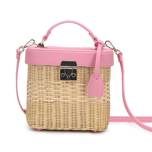 Woven Rattan Single Shoulder Strap Bag For Women