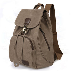 Student Canvas Laptop Backpack - Backpacks Oasis