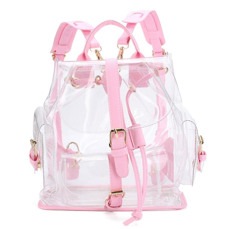 Clear Plastic See-Through Security Backpack Women - Backpacks Oasis