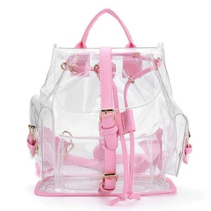 Buy Clear Plastic See Through Security Backpack For Women