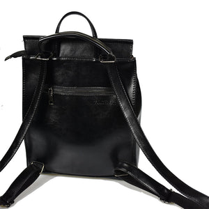 Teenage Girls Leather Shoulder Backpack - Backpacks Oasis