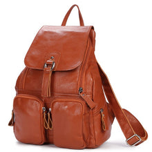 School Girl Leather Backpack - Backpacks Oasis