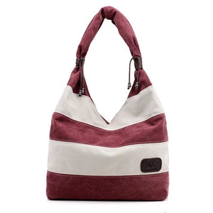 Canvas Shoulder Hand Tote Bag - Backpacks Oasis