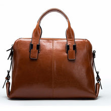 Leather Tote Bag With Zippers