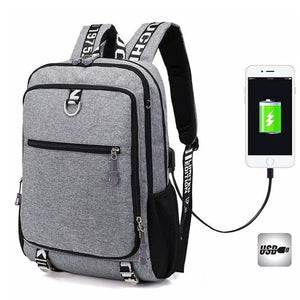 Waterproof USB Charging Laptop Backpack For Men - Backpacks Oasis