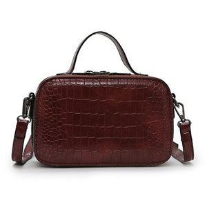 Pattern Leather Crossbody Bag