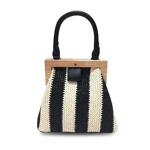 Wooden Crossbody Shoulder Bag