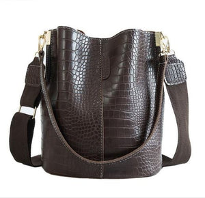 Alligator Design Leather Bag - Backpacks Oasis