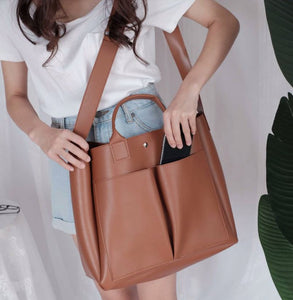 Big Tote Shoulder Handbag - Backpacks Oasis