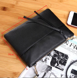 Black Envelope Clutch Purse