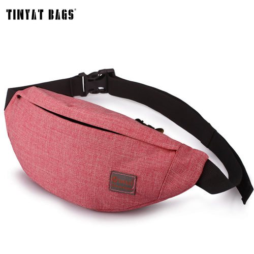 TINYAT Multifunctional Fanny Bag Casual Waist Pack Bag  Seven Colors Belt bag Unisex Phone Belt Bag Coin Purse T201