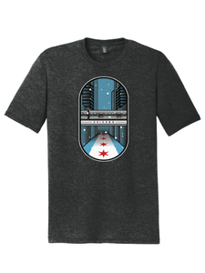 "December '20 - Chicago Holiday ""L"" Train T-Shirt"