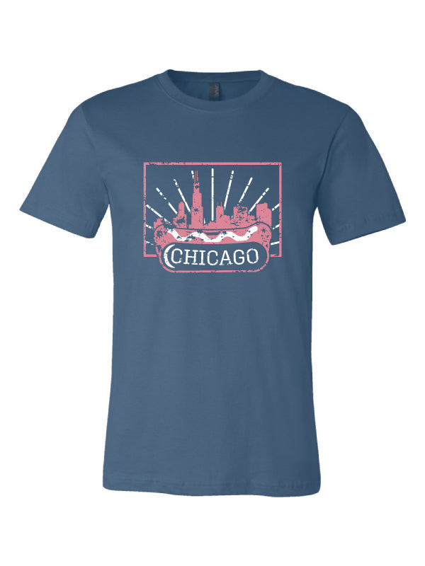 chicago style hot dog tshirt chicago shirt co shirt of the month