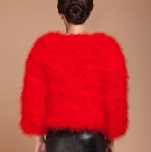 Boujee Feather Coat