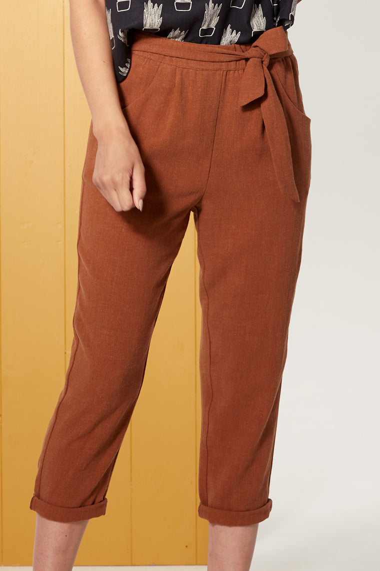 Pantalon SERENA Tan