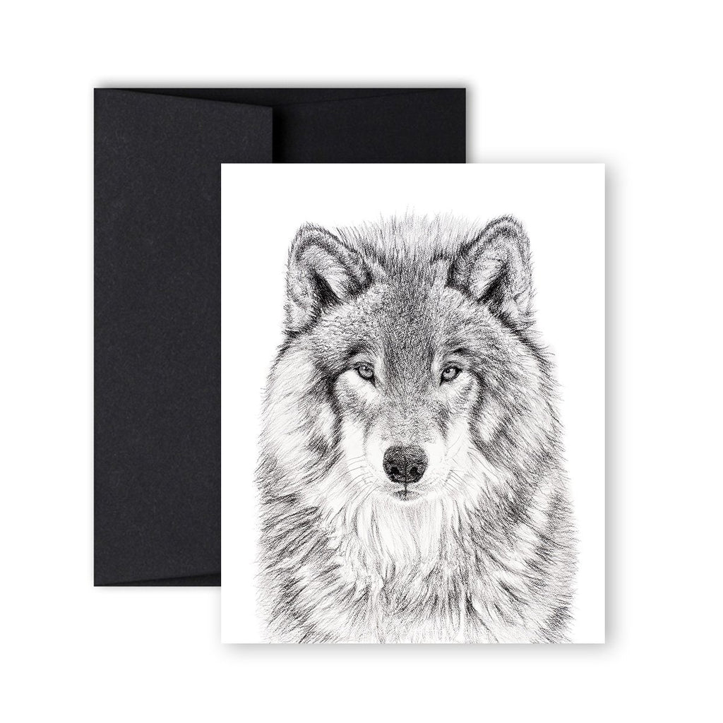 Greeting Card - Wolf