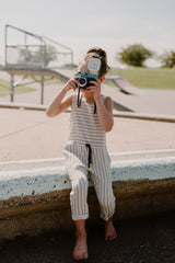 ANTILOPE Jumpsuit — Striped Linen