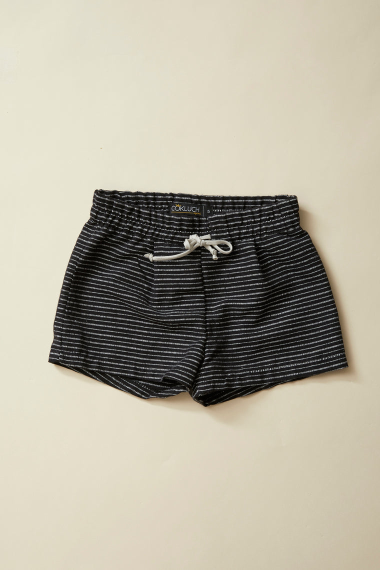 COUCOU Short — Black Striped