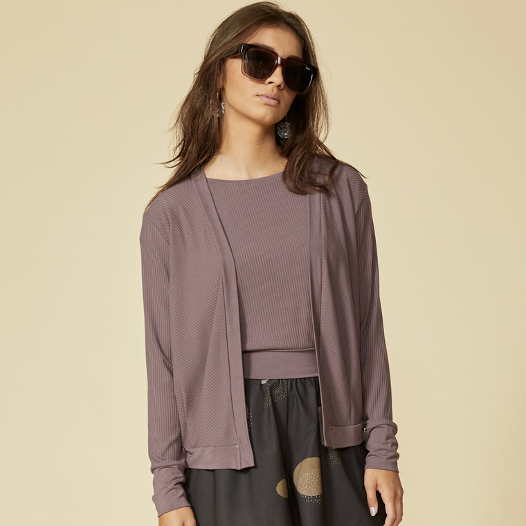 CACOUNA cardigan - Grape