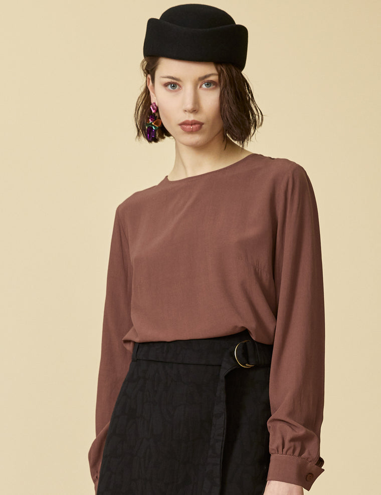 Blouse CARENE - Amaretto