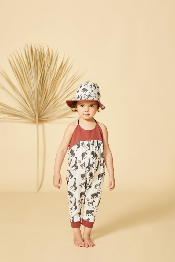 NYALA Jumpsuit — Beige Safari