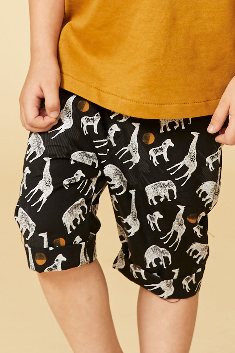 GUEPARD bermuda shorts — Black Safari