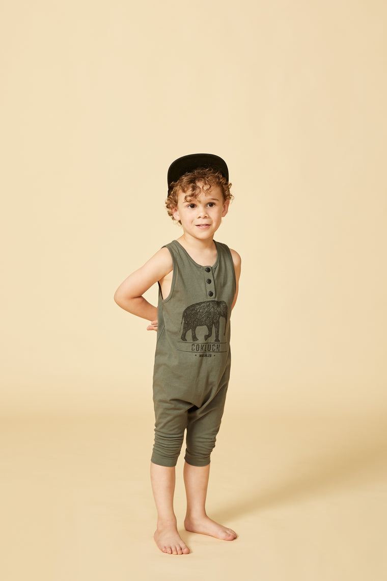 KOUDOU Jumpsuit — Green-grey