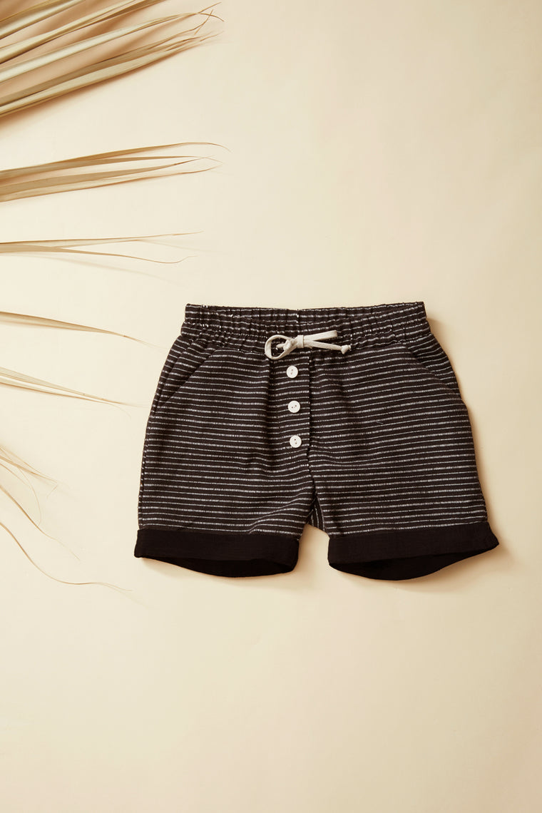 BAOBAB Bermuda shorts — Black Striped