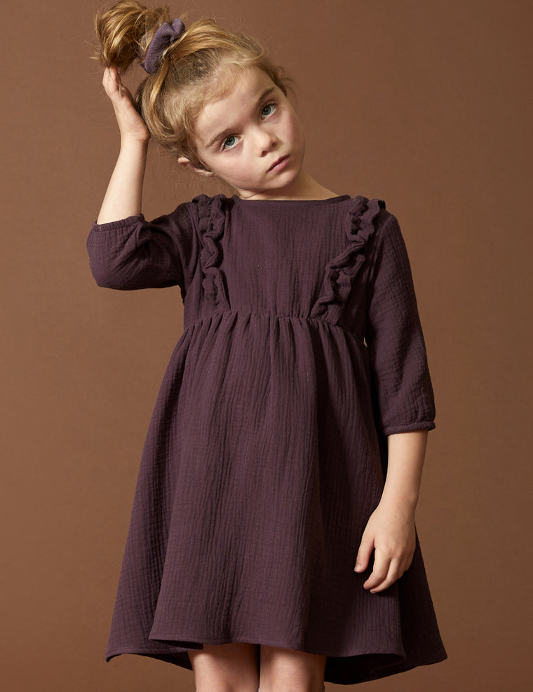 Dress CYGNE - Purple