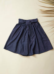 FIGUE Divided Skirt — Dark Denim