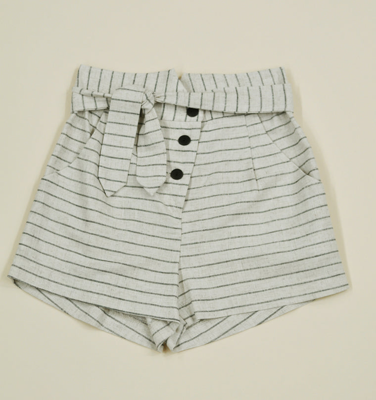 HIROLA Short — Striped Linen