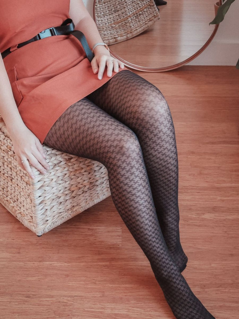 Tights - Houndstooth print