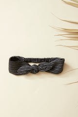 PAPAYA Headband — Black Striped