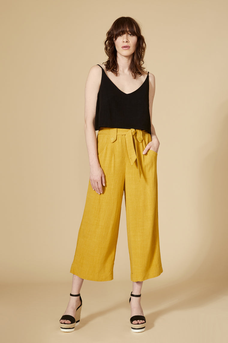 Pantalon SOLANUM — Moutarde