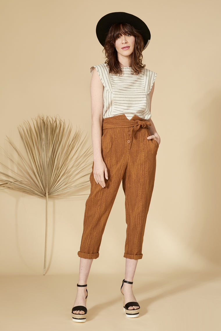 MIRAGE Top — Striped Linen